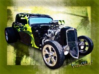 The 1934 Ford Three Window Coupe Hot Rod Copyrighted Work from VivaChas!