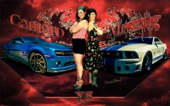 Camaro vs Mustang the poster print from VivaChas - Click Pix to Shop