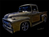 To Get a High-End Print of this Great VivaChas 56 Ford Pickup - Click It!