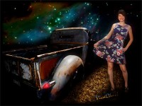 Rat Rod Saturday Night Dance Queen from VivaChas Hot Rod Art!