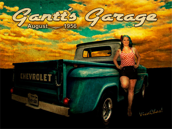 1956 Chevy Pickup Calendar Page From Gantt S Garage