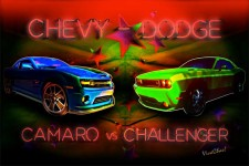 Challenger vs Camaro Second in a Series from VivaChas! Click to Shop