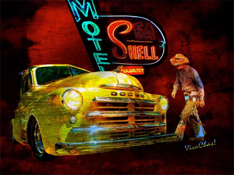 Mopar Cowboy Checks Out Of Motel Sea Shell