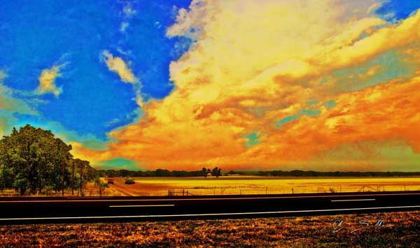 Hurry Sundown - Texana Art from VivaChas - Click the Pix to Buy a Print