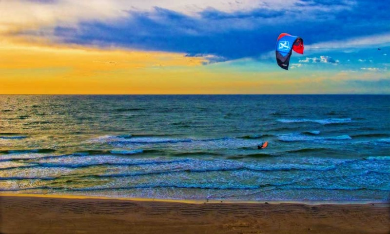 A Kite Surfer photo'd by Chas from our Hotel Balcony ~ Click the Pix to Buy a Print!