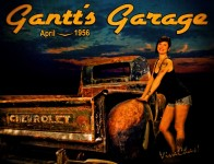 Hot Rod Pinup from VivaChas and the Gantt's Garage Series - click pix to choose the size U want ~:0)
