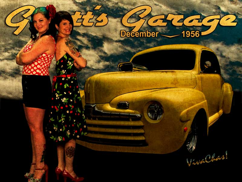 Hot Rod Calendar featuring The 46 Ford and a Pair of Betties