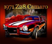 Z28 Camaro in the Classic Poster Style from VivaChas Hot Rod Art - click pix to shop 4 a print