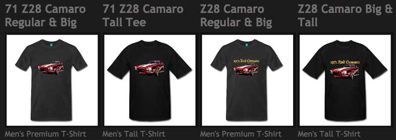 Z28 T-Shirts from VivaChas - Click the Pix to Shop 4 Shirts!