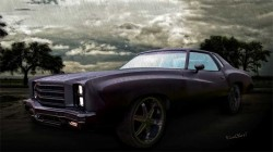 Chevy Monte Carlo Poster from VivaChas Hot Rod Art ~;0) Cheaper than buying a Car! - Click Pix to Shop