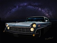 Alien Lincoln Roswell Saturday Night from VivaChas Hot Rod Art! - Click Pix to Shop ~;0)