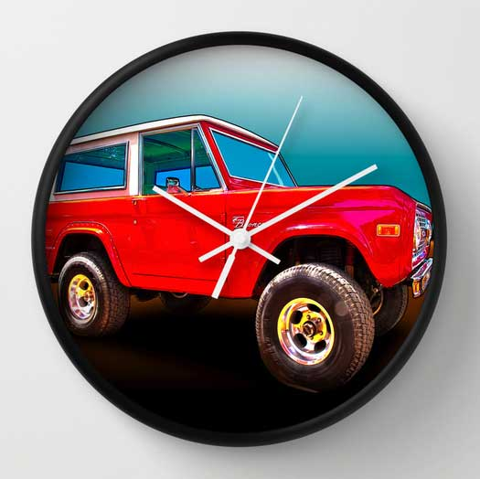 Ford Bronco Classic Wall Clock from VivaChas - Click the Clock to Get Urself One ~;0)