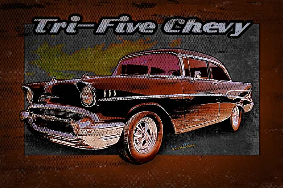 tri five chevy wall rider 1957 belair. Black Bedroom Furniture Sets. Home Design Ideas