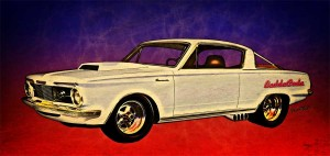 64 Barracuda the BaddaCuda - copyrighted art from VivaChas Hot Rod Art! Click Pix to Buy a Print!