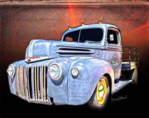 Rat Rod Flatbed - Copyrighted Hot Rod Art from VivaChas Hot Rod Gifts - Click the Pix to Order! ~;0)