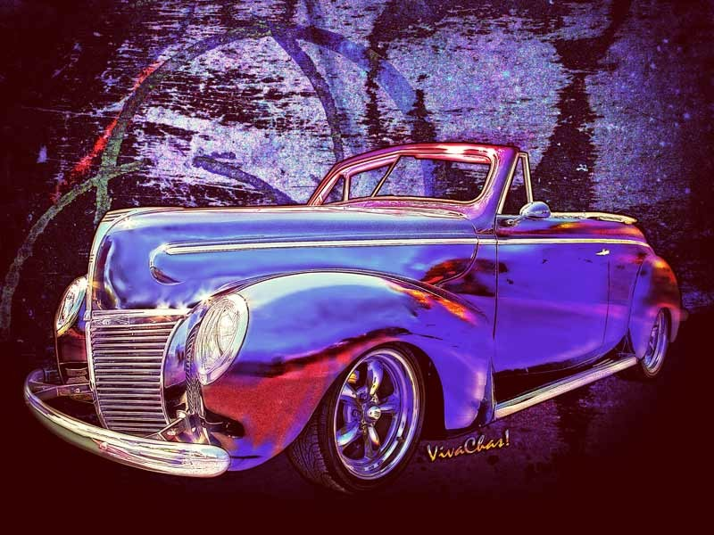 39 Merc Rag Top copyrighted art from VivaChas! - Click the Pix to buy a Hot Rod Gift from Chas!