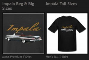 Get Ur Chevy Impala Convertible Tee or any of hundreds - Click to Shop!