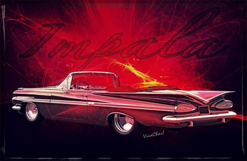 Chevy Impala Convertible Art and Gifts from VivaChas! ~;0) Click pix to Shop!