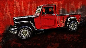 Jeep Pickup Cartoon image available at the vendor when U click the Pix!