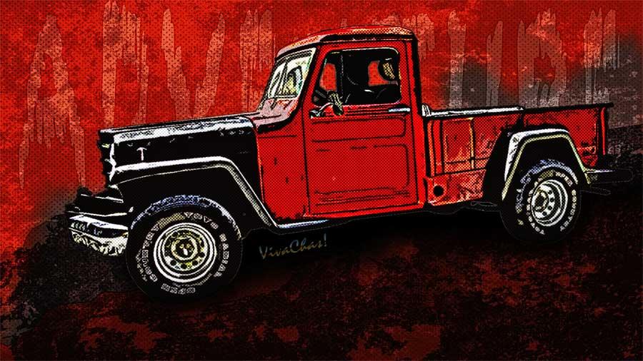 Jeep Pickup Adventure Comic Book Scene From Vivachas
