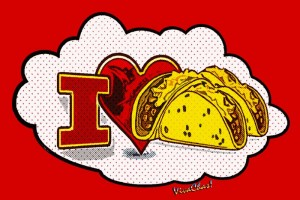 Taco Wagon Logo - I Heart Tacos from VivaChas Hot Rod Art and Gifts! - Click the Pix to shop 4 a print! ~;0)