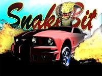 Mustanger SnakeBit BurnOut - Hot Rod Art from VivaChas - Click Pix to Shop 4 a Gift!