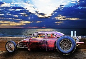 VW Surf Monster at the Shore is copyrighted art from VivaChas - click the pix to shop 4 a print or gift ~;0)