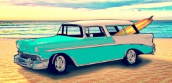 56 Nomad Wagon as interpreted by VivaChas! - Click the Pix to Go Buy Ur Copy! ~;0)