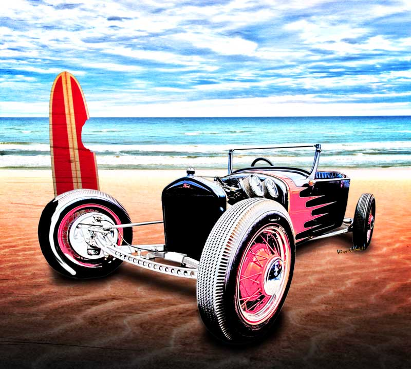 T Rat Rod at the Beach DownUnder with VivaChas