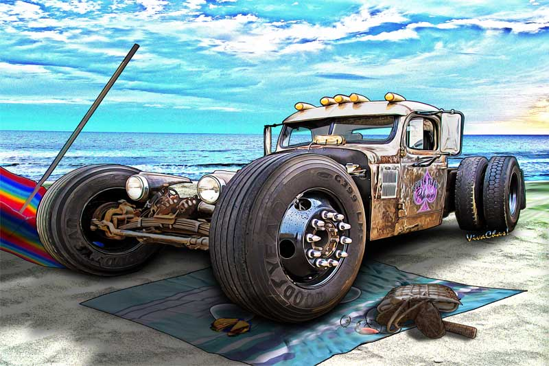 Beach Blanket Rat Rod Another Day At The Beach