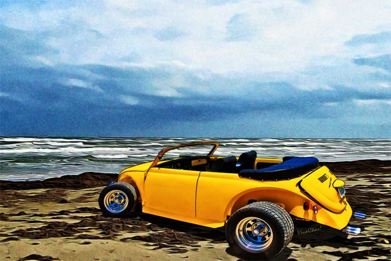 VW Roadster in Summer Yellow ~ klick the pix to shop 4 a print or gift!
