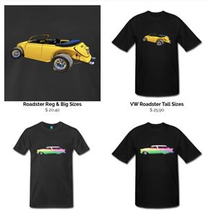 VW Roadster Tee and More! Klick to Pick! ~;0)