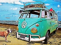 Not 62 Buick Rat Rod this VW Surf Bus was at STP Riot! Click the Pix to read about the Bus Story ~;0)