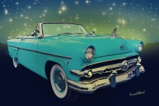 54 Ford Sunliner Convertible Date Night Saturday Night - Click Pix to Shop!
