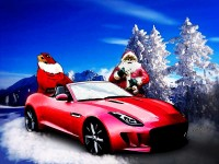 Jaguar F-Type is Santa's Secret Sleigh - Click the picture to Shop for a Print!