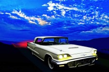 ThunderBird in the Sky is Automotive Art from VivaChas - Click the Pix to Shop for a Print ~;0)