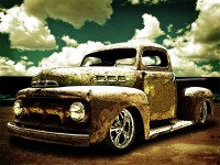 Beach Rat Rod Pickup from VivaChas Hot Rod Stories!!! - clik pix to shop for a print