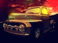 This 52 Ford Pickup is a Digital Painting from VivaChas! - Click this pix to shop for gifts with this image on them!