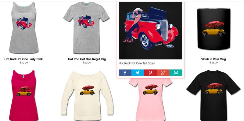 Hot Rod Hot One T-Shirts and more from VivaChas - Click Pix to Get Some Tees!
