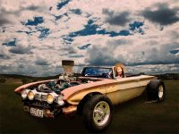 62 Buick Rat Rod Roadster Flaca is available as a Man Cave Print - Click Pix