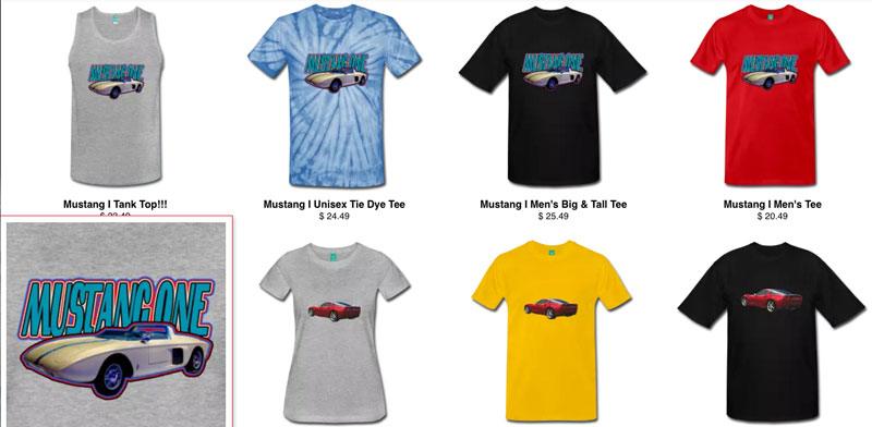Mustang Generations - The Mustang One Tee Series! - Click the Pix or the Text Link to Go Get Some Tees!!!