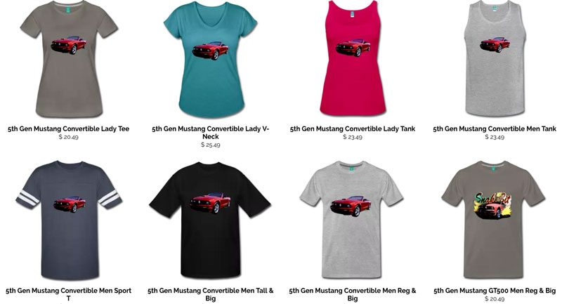 Dream T-Shirts from VivaChas! Click Pix to Stock Up on Tees - Even if you start with just one! ~;0)