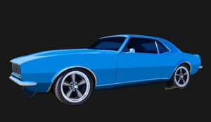 1st Generation Chevy Camaro on a Clean Black Background! - Click this pix to buy this pix from VivaChas!