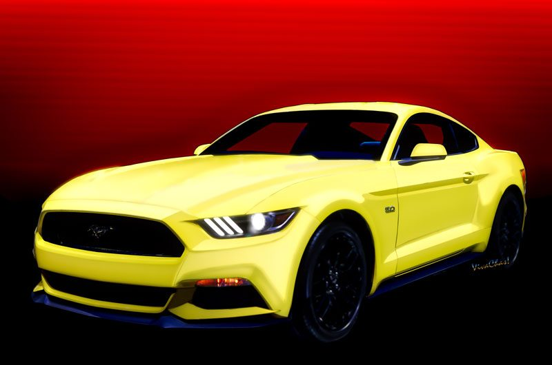 2014 Mustang 5.0 hot rod fine art prints from VivaChas - Click this pix to Shop for Stuff with this Ride on it!