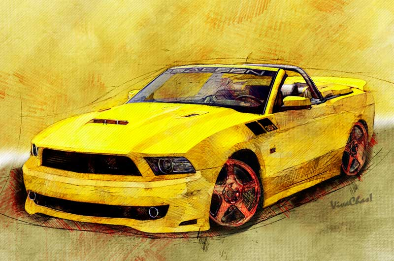 2014 Saleen Mustang Convertible S351 print available here - click pix to get yours!