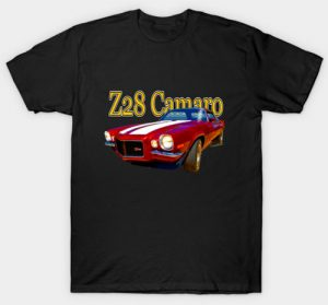 2nd Generation Z28 Camaro T-Shirt and other swag by clicking this pix! Go See It!