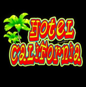 Hotel California on Black Art paper or products - Click Pix for it!