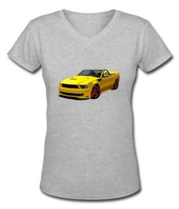 2014 Saleen Mustang Convertible s351 in a Lady's V-Neck Tee - Click Pix to Shop for it!