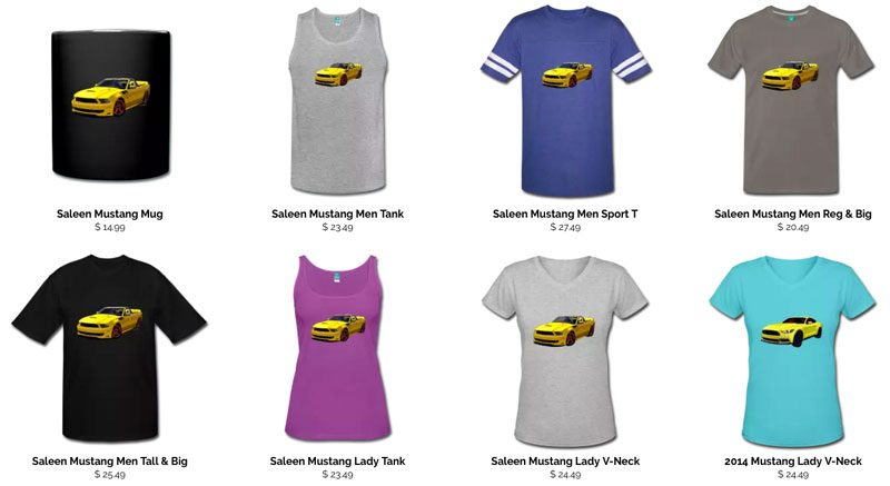 Mustangs and More at the VivaChas T-Shirt Shop! - Browse! Click this pix to go to the Shop and Get Some Shirt!