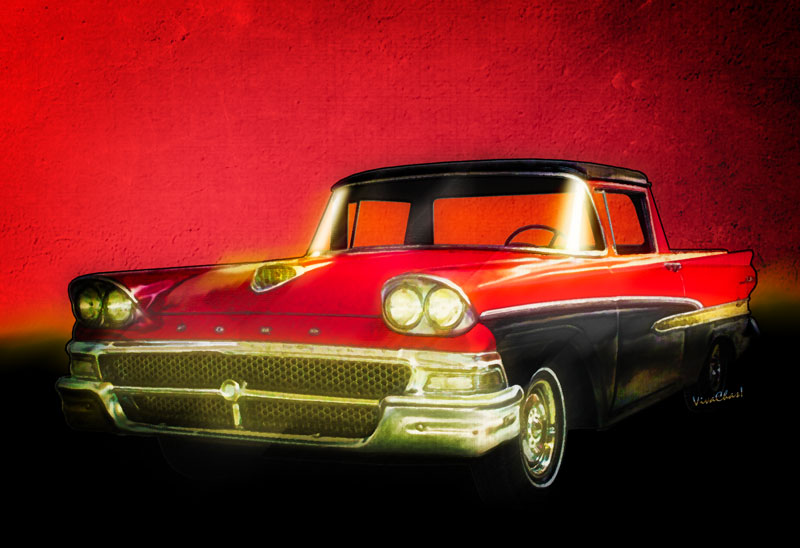 Ford Ranchero 1st Generation the 1958 Ranchero Fairlane - Get your print or other stuff for your very own - Click the Pix! Perfect gift for the car guy or gal!